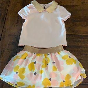 Kate Spade ♠️Toddler skirt & T-shirt set